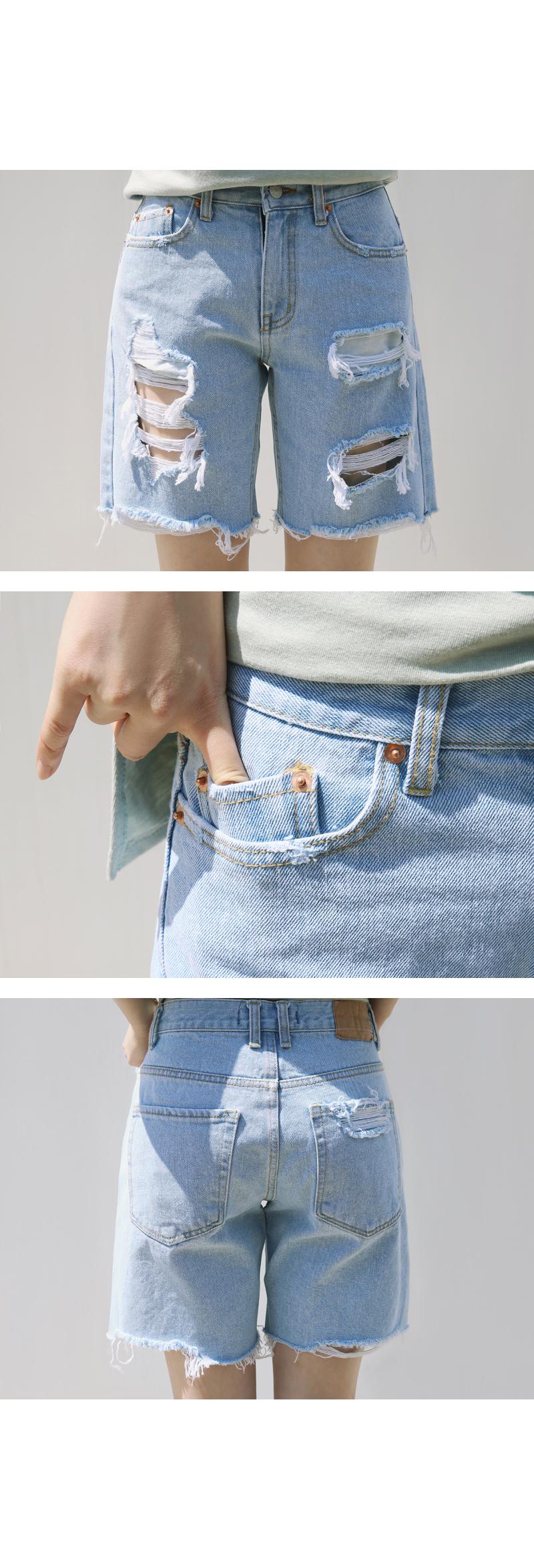 做旧牛仔短裤